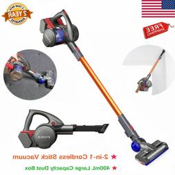 2 in 1 Cordless Handheld Vacuum Cleaner Stick HEPA Filter Ca