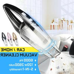 US 120W High Power Cordless Wet & Dry Portable Car Home Vacu
