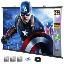"""120"""" 16:9 Portable Projector Screen Hanging HD Home Theater"""