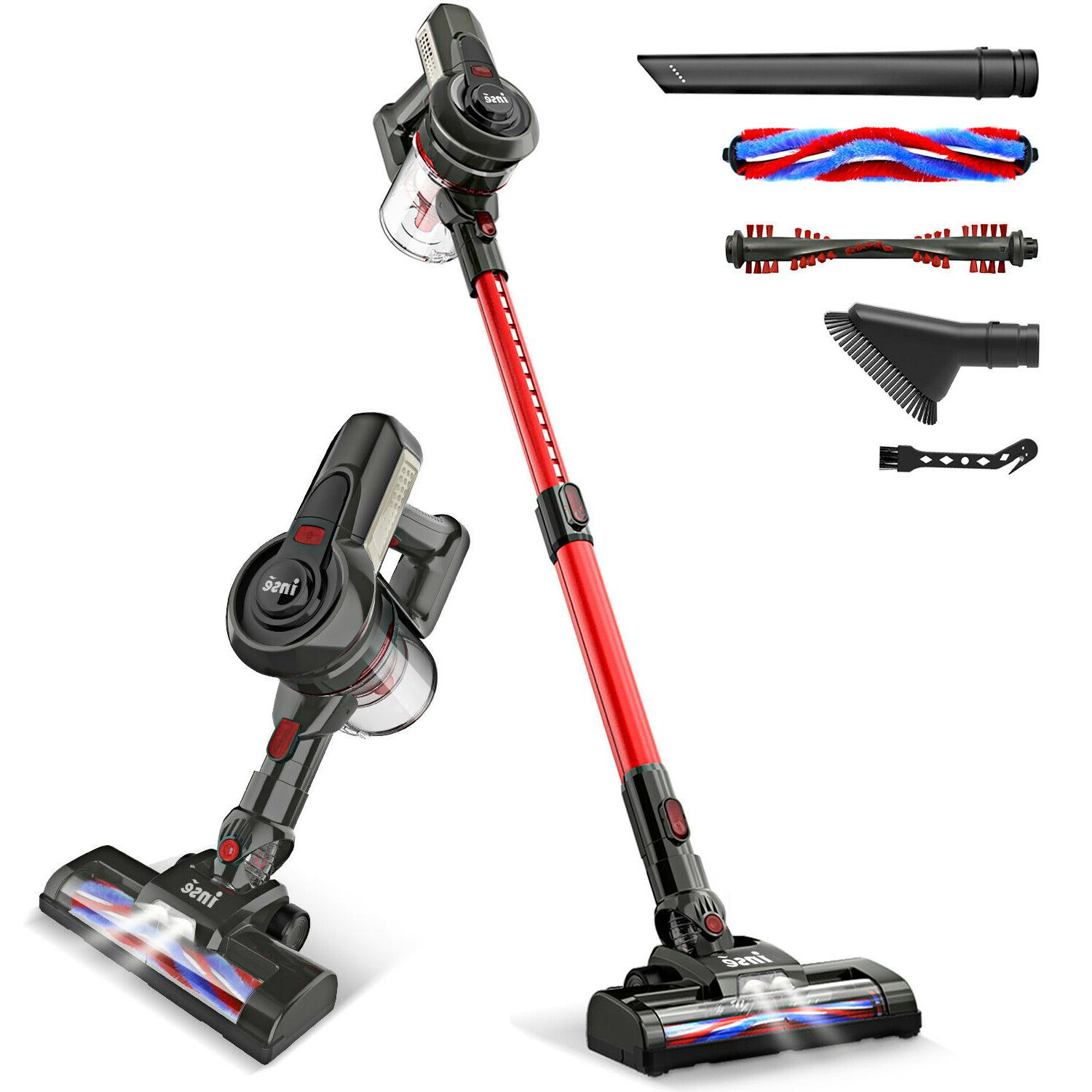 INSE Cordless 12KPa Vacuum Cleaner 2-in-1 Stick Upright Comp