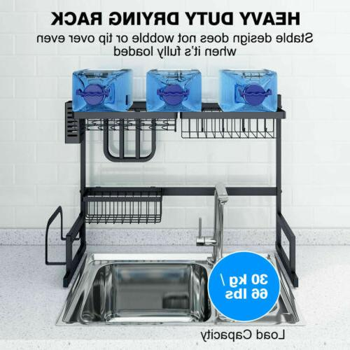 """Over Sink Dish Drying Steel Cutlery 26"""""""