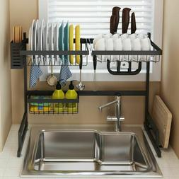 Over The Sink Dish Drying Rack Shelf Stainless Steel Storage
