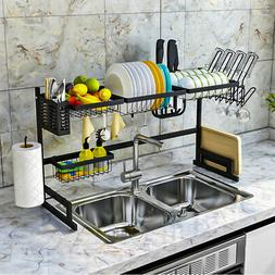 USA Over The Sink Dish Drying Rack Shelf Stainless Steel Sto